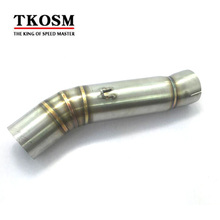 TKOSM Motorcycle Exhaust Pipe front Bend Pipe Motorbike Mufller Middle Pipe Link Pipe for Honda CBR500R