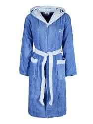 Халат с капюшоном-светло-голубой