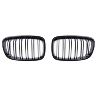 Front Center Wide Kidney Grille Gloss Black Double Line for 1 Series F20 2011 118i M135i 125i 120i