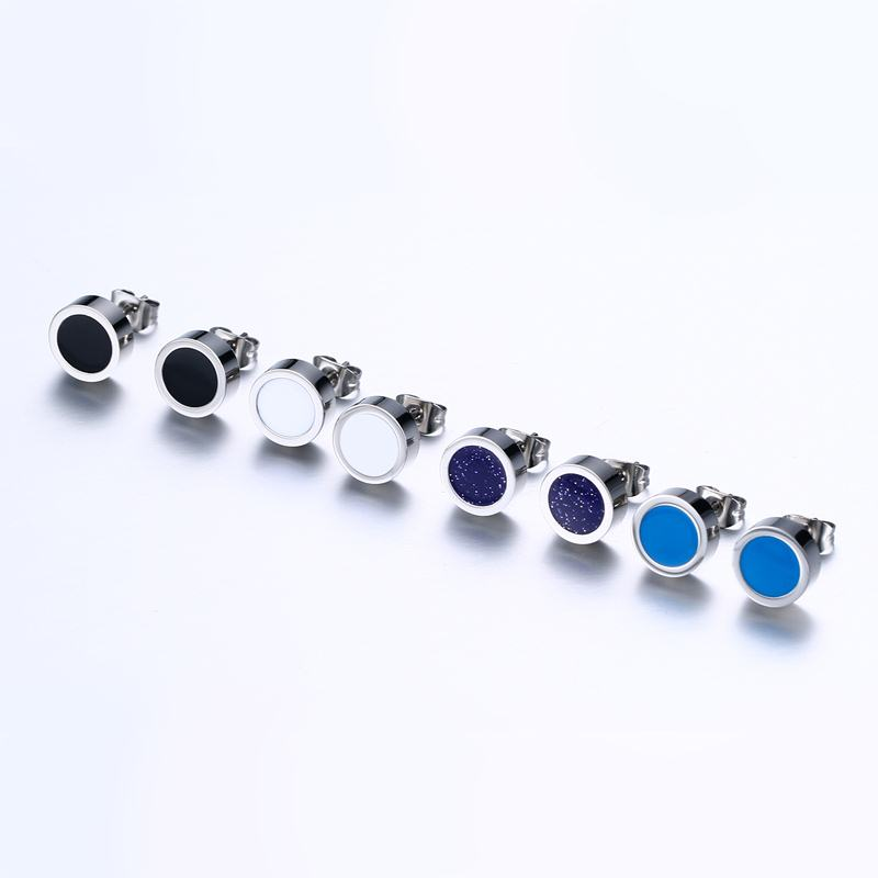 Amazing Men's Small Round Stud Earrings