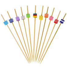 100 шт Одноразовые коктейльные палочки ручной работы, креативные бамбуковые палочки для закусок, деревянные палочки для фруктов, декоративные бусины, вечерние палочки