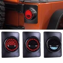 Für Jeep Wrangler JK JKU LED Runde Schwanz Lichter JKU Laufen/Bremslicht JK Blinker Reverse Licht Für jeep JK Bremse Licht