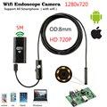 Эндоскоп для IOS  беспроводной водонепроницаемый эндоскоп 8 мм с 6 светодиодами на Android  1 м  2 м  5 м  HD 720P