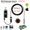5m 6 LedHD Wireless Wifi Endoscope Camera Snake Inspection Camera 8MM Lens IP67 Waterproof Borescope Support