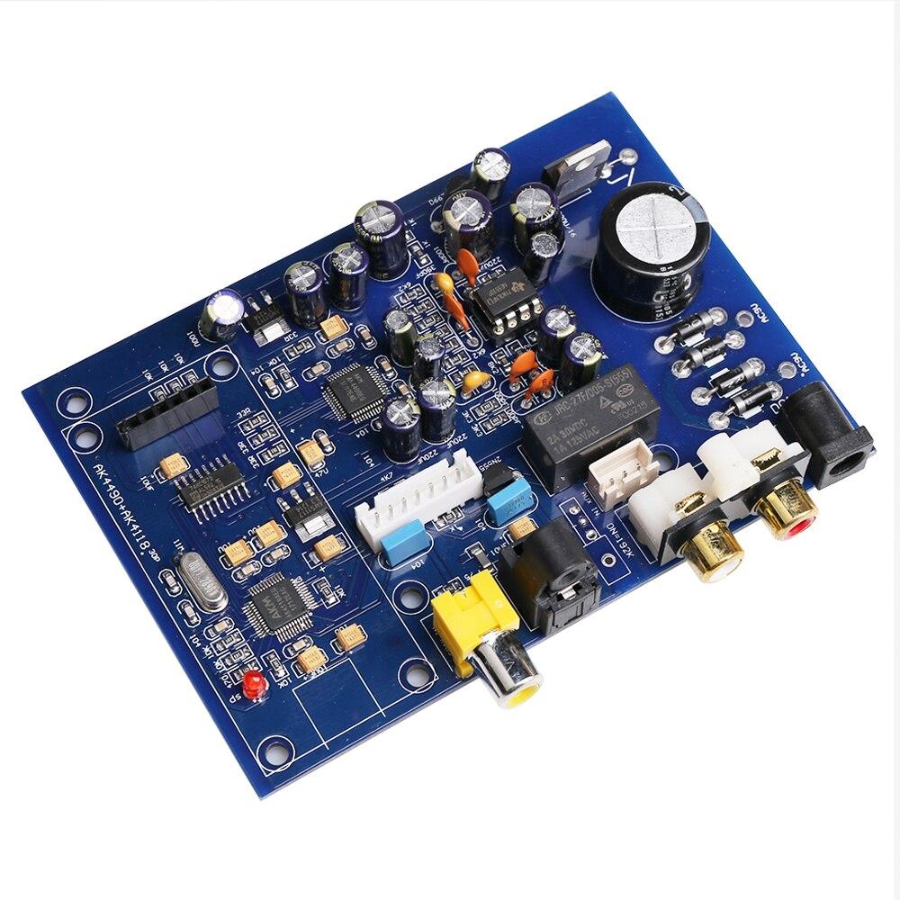 AK4490 + AK4118 NE5532 Quad Entrée DAC Décodeur Conseil avec Analogique D'entrée, Quad Commutateur D'entrée, Fiber, Entrée coaxiale