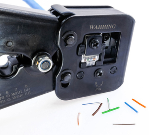 Image 5 - 50/100pcs Rj45 Connettore Cat5e Cat6 Connettore di Rete Schermato 8Pin modulare utp rj45 tappi per le orecchie hanno foro HY1525