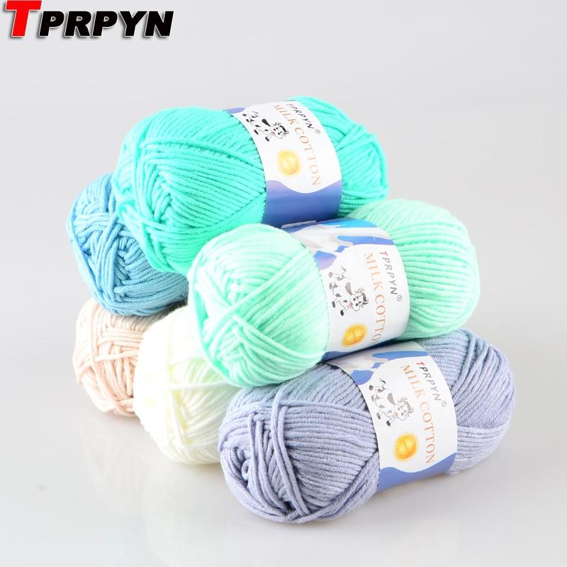 TPRPYN 500g=10pcs Milk Cotton Knitting Yarn Soft Warm Baby Yarn For Hand Knitting NL1131