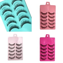 1Set New Natural Long Black False Eyelashes Fake Eye Lashes Makeup Extension Tools