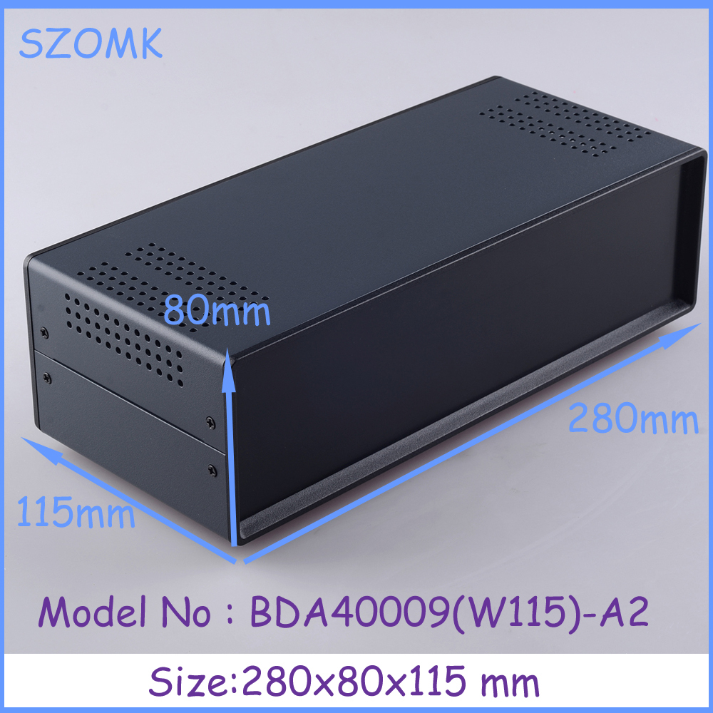 (1 pc)80x280x115 mm electric box iron enclosure metal box enclosure for electronics pcb switch metal iron steel box 1 220x120x195 mm 2014 new electronics metal enclosure box for electronics and pcb instrument box industrial enclosures