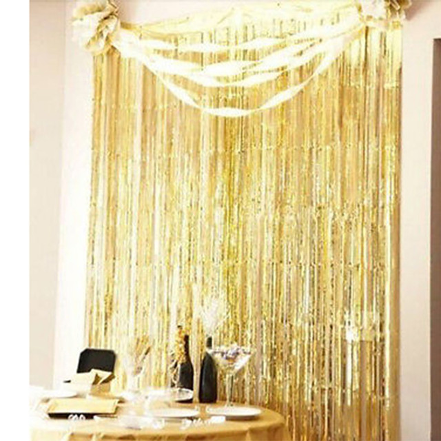 Party Holiday DIY Decorations Shimmer Door Curtain Fringe Garlands Foil Curtains A803 15