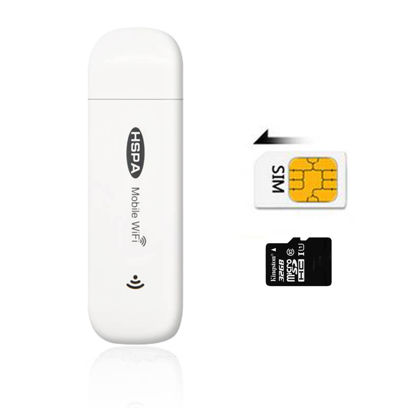 3G Car Routers Mobile Wifi Hotspot Mifi DongleCar USB Modem 7.2Mbs Mini Wireless Universal Broadband with SIM Card Slot