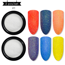 Mtssii Shining Sugar Nail Glitter Powder Sandy Art Decoration Pigment Dust Super Shimmer Manicure Set Wholesale