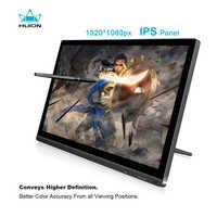 HUION KAMVAS GT-191 Pantalla de 19,5 pulgadas IPS Pen Monitor de dibujo gráfico Digital interactivo de 8192 niveles con regalos