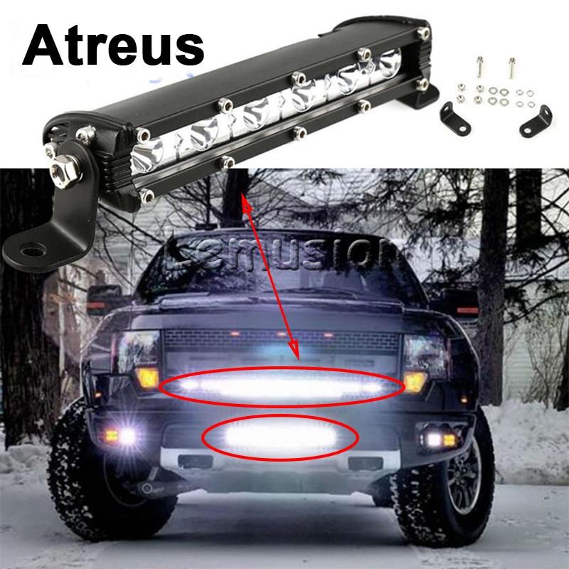 Atreus For Nissan qashqai Citroen c4 c5 c3 c2 Chevrolet cruze aveo Peugeot 207 Car Driving Fog Lamp DRL Single Row LED Light Bar