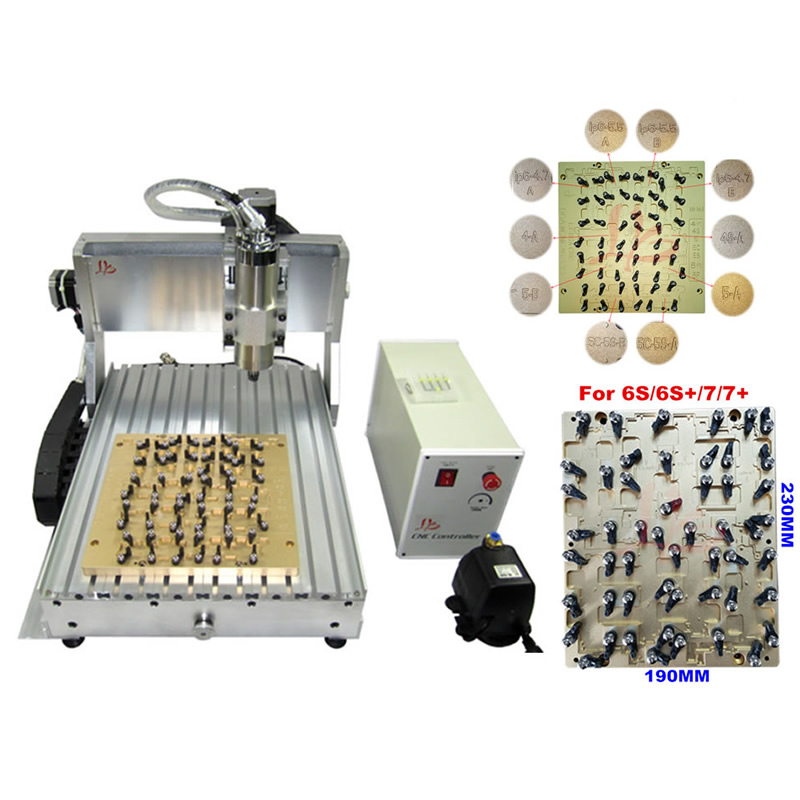 LY IC CNC Router 3040 Milling Polishing Engraving Machine for iphone 4,4s,5,5c,5s,6,6P,6S,6S+,7,7+ main board repair