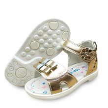 On sale 1pair  Kids Leather Sandals Girl Shoes,Super quality Children Outdoor Orthopedic Shoes