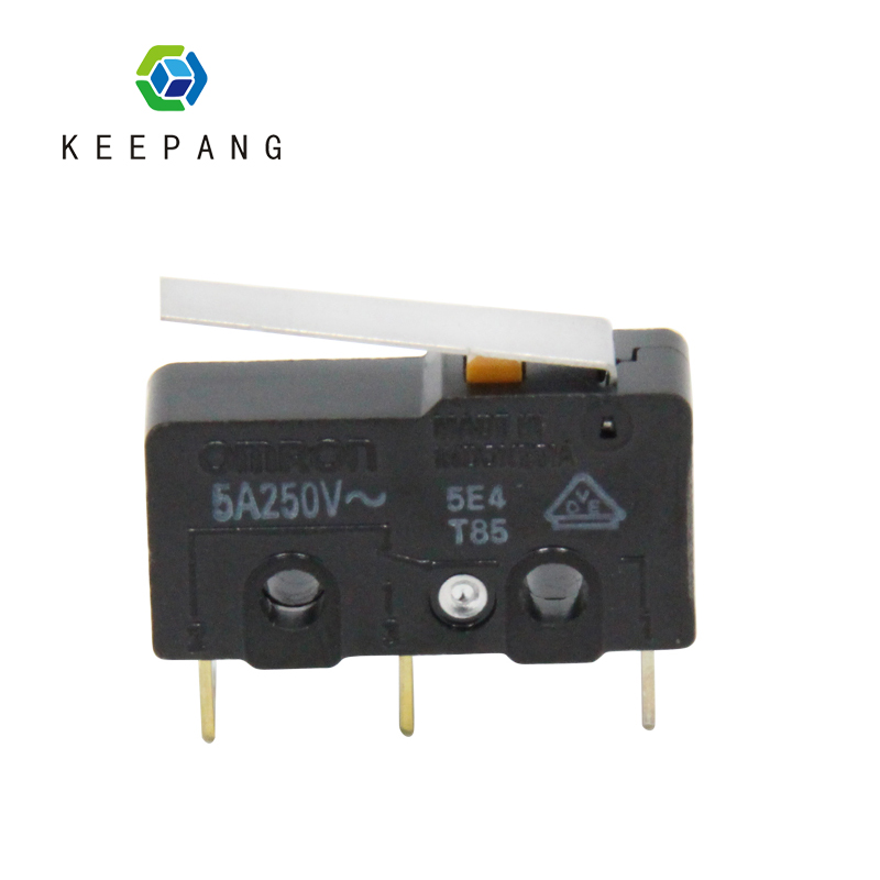 Kee Pang 5PCS/lot Micro SS-5GL Switch Mini Limit Switch For 3D Printer Black Endstop Com-NC-NO 3Pin End Stop Switch Omron SS-5GL