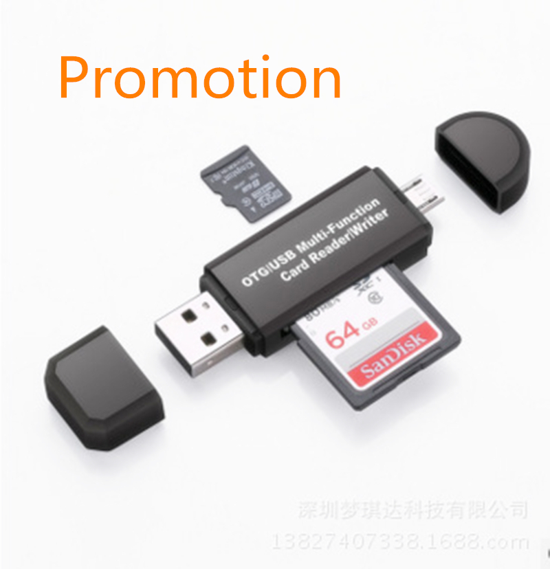 2018 USB 3 In 1 OTG Micro USB & Type C  And  USB2.0 High-speed Card Reader  Universal OTG TF / SD For Android Computer Headers