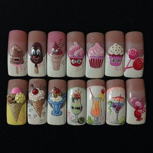 Image 2 - 18pcs Sweets Ice Cream Summer Nail Sticker Mixed Colorful Fruit DIY Water Decals Nail Art Decorations Manicure Tool TRSTZ471 488