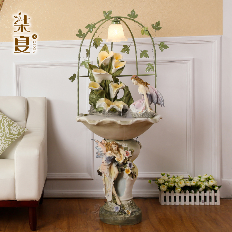 European water landing resin decoration furnishings high-end wedding gift Home Furnishing humidifier creative decorations