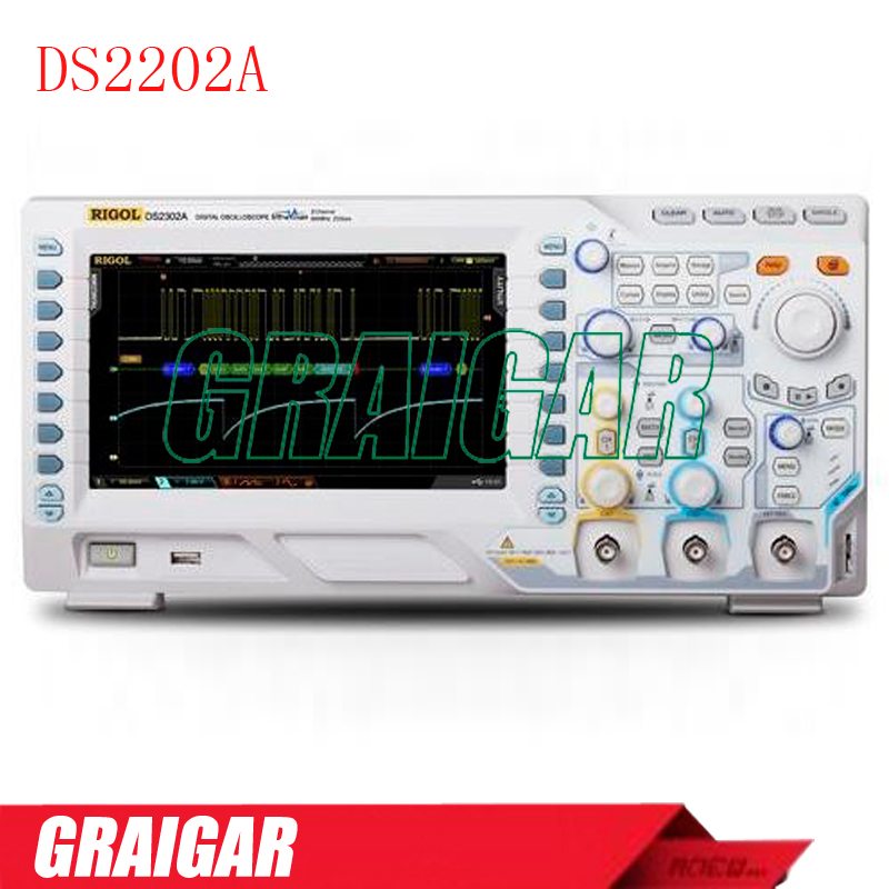 DS2202A <font><b>200</b></font> <font><b>MHz</b></font>, 2 Channel Digital Oscilloscope image
