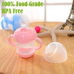 BPA الحرة! 100% الغذاء الصف PP 160 ملليلتر مانعة للتسرب الطفل سيبي كوب الطفل مقبض تعلم الشرب كوب Drinkware مقبض فاسوس الفقرة Bebes