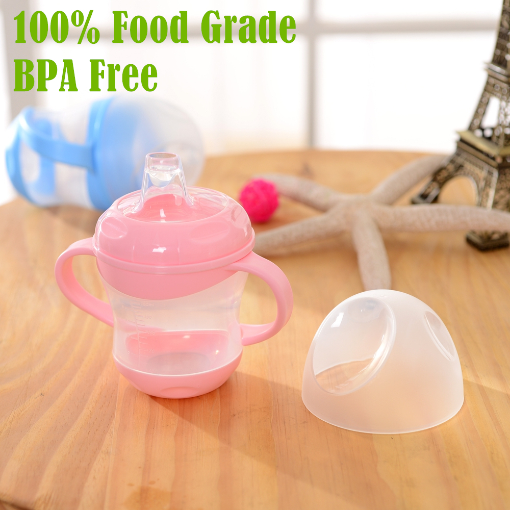 BPA Free! 100% Food Grade PP 160ml Leakproof Baby Sippy Cups Baby Handle Learn Drinking Cup Drinkware Handle Vasos Para Bebes