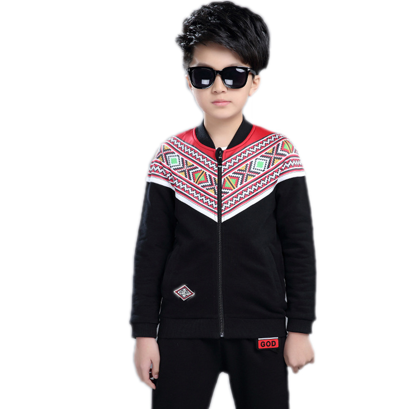boys clothing set 2017new fashion children clothing sets Casual Ethnic Sports Suits Boys Clothes Children boys sports wear 4-11T children s long sleeve sports suits boys clothing set camouflage child outdoor sport tracksuit clothes sets 4 6 8 10 12 14 year6