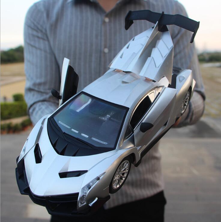 30 cm adultes enfants jouets 1:16 4 canaux 2.4G haute vitesse télécommande RC hummer escalade voiture de fond - 5
