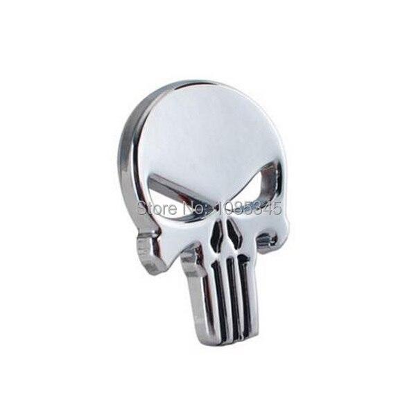 Prix pour Voiture-Styling Autocollant Punir Crâne Visage emblème pour Jeep Wrangler Rubicon Hayon panneau De Porte Emblème Badge Autocollants Moto