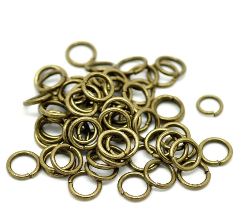 Doreen Box Lovely 200PCs Antique Bronze Open Jump Rings 10mm(3/8