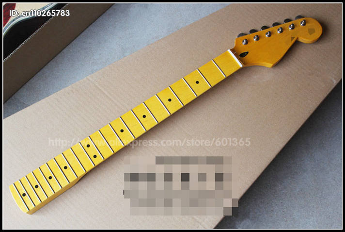 2016 21 frets with tuner Retro Big Head Canadian Maple Electric Guitar Neck electric guitar kit kits maple finger board yibuy maple 2 single coil pickup 21 22f electric guitars diy builder kit with all accessories