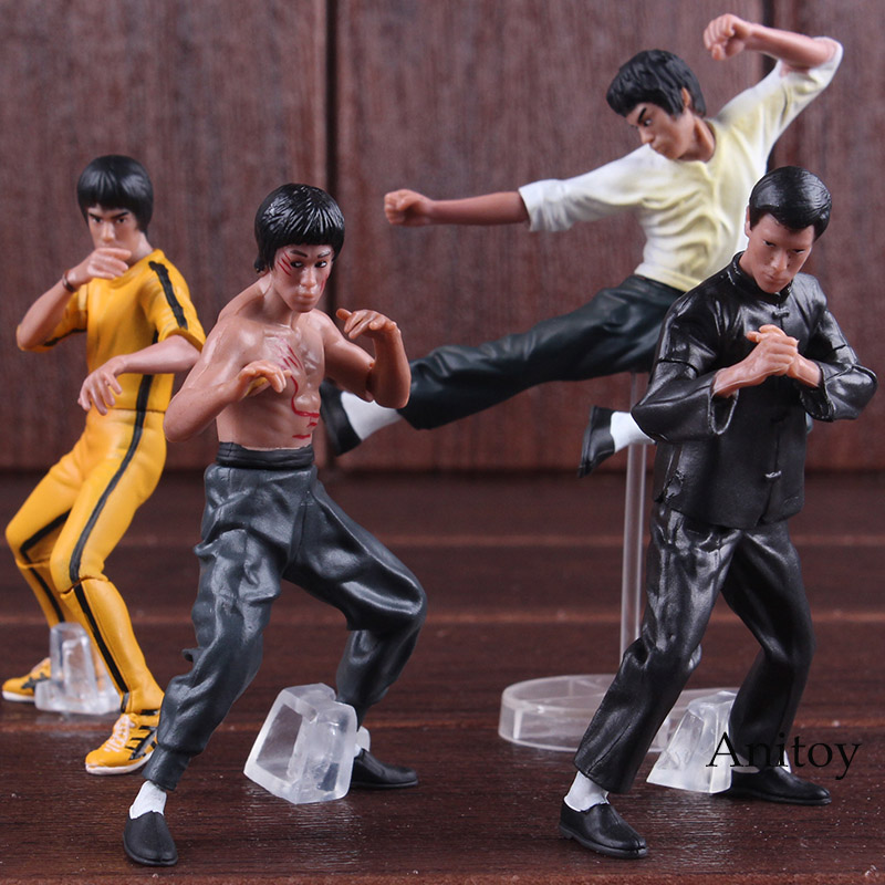 4pcs/set Cool Bruce Lee Kung Fu PVC Collection Model Action Figures Toys New in Box OF111 image