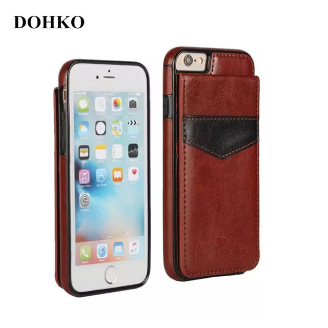 DOHKO fashion Leather Case For apple iPhone 5 Case iphone 5s iPhone se Cases Luxury Wallet Cards Fundas Buckle Cover Phone