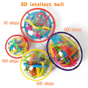 3D Magical Intellect Maze Ball 99/100/158/299steps,IQ Balance Perplexus Magnetic Ball Marble Puzzle Game for Kid and Adult Toys