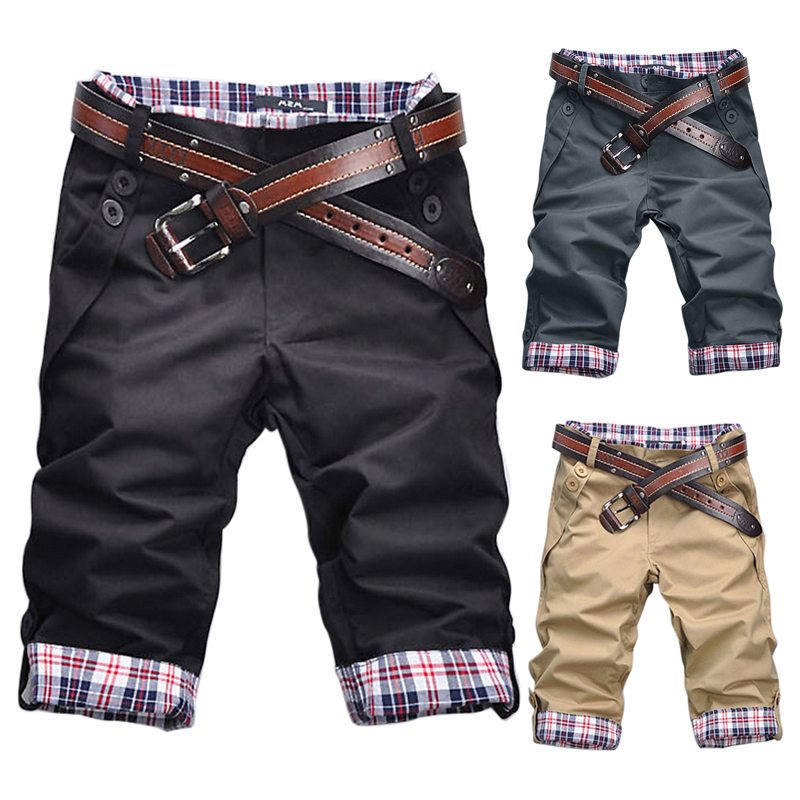 2018 Men Casual Shorts Plaid Mosaic Trousers Fashion Hot Sale Spring Summer New High Quality Plus Size M-3XL Soft Comfortable