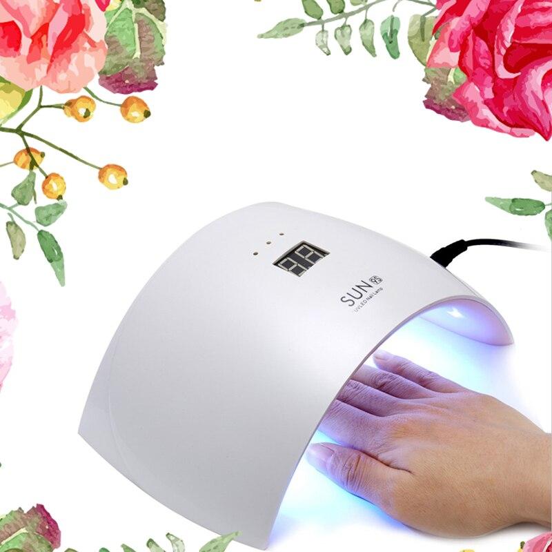 SUN9S lámpara UV 24 W Lámpara USB carga SUN9C secador del clavo con LCD y botón temporizador Nail Gel lámpara para curar todos los geles polaco