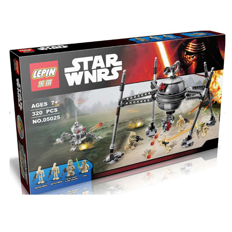 new font b lepin b font new Star Wars building blocks bricks assembled track guided robot