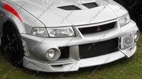 Araba Aksesuarları FRP Fiber Cam Aşırı Tarzı Ön Dudak 3 adet Için Fit 1999-2000 EVO 6 Ön Splitter dudak