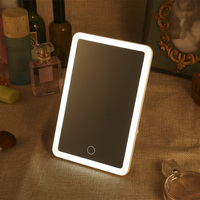 Rechargeable LED Touch Screen Makeup Mirror Professional Vanity Mirror With LED Light Health Beauty Adjustable 180