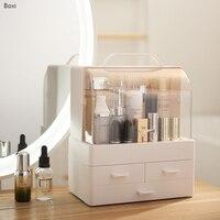 Boxi Multi layer Drawer Makeup Organizer Transparent Plastic Cosmetic Storage Box Desktop Dust proof Jewelry Nail Polish Boxes