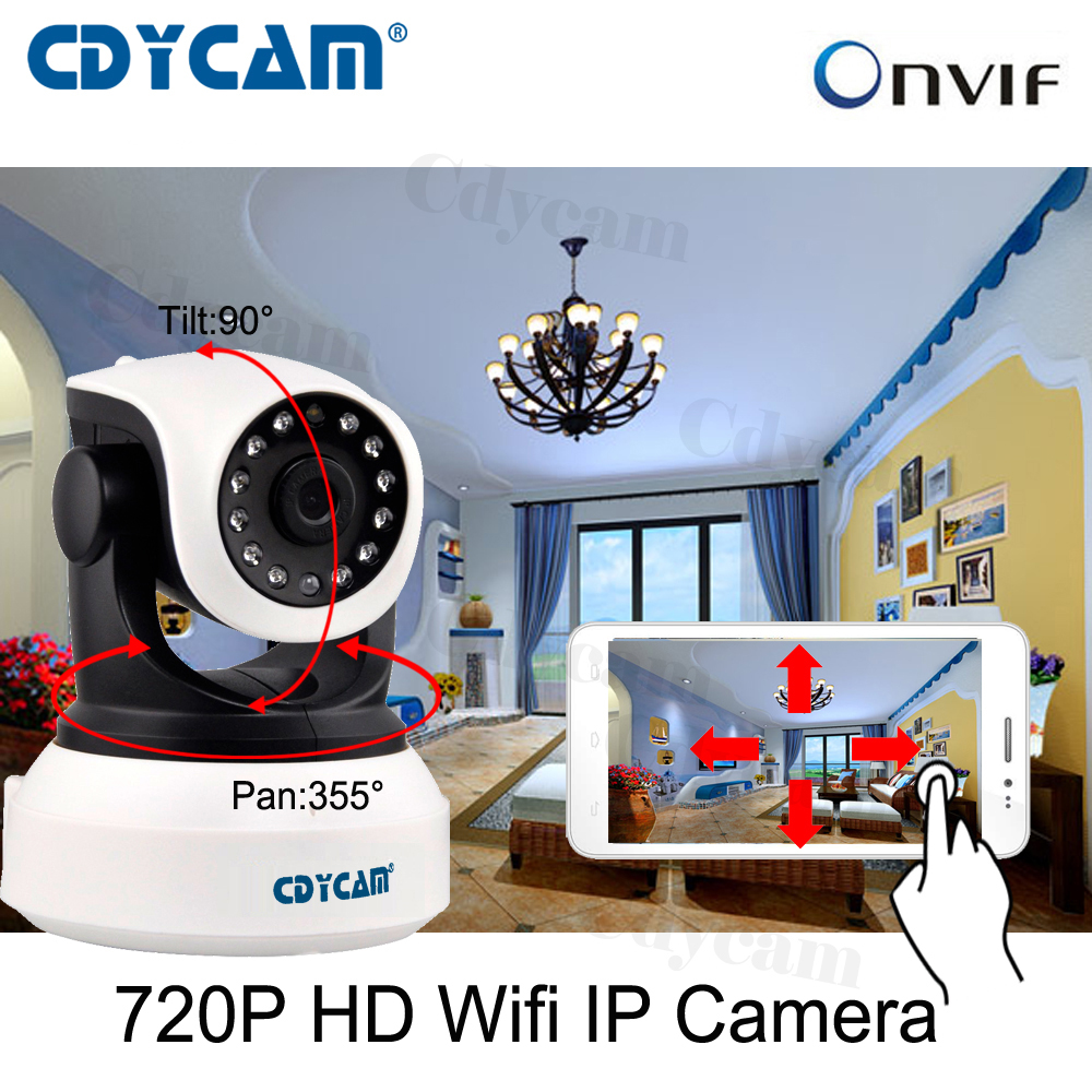 imágenes para CDYCAM C7824WIP HD 720 P Inalámbrica WiFi Cámara IP uso envío Eye4 APLICACIÓN Interior Seguridad Para el Hogar Cámara de Red IP 3.6mm lente H.264 IP Cam