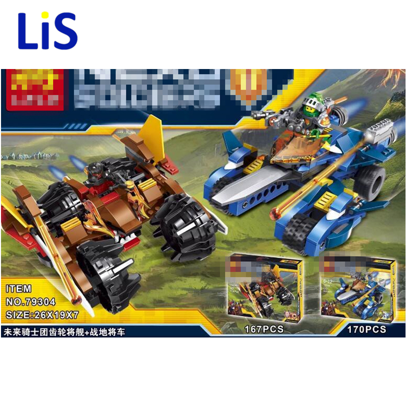 Lis LELE Gear will ship + field to the car Educational Building Blocks Toys For Children Gifts Hero Nexo Knight Weapon kids toys banbao kung fu educational building blocks toys for children kids gifts super hero weapon temple hores chinese style