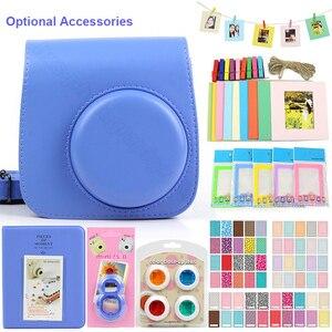 5 Color Accessories Set for Fujifilm Instax Mini 9 8 Instant Film Camera, Including Carry Bag/Photo Album/Stickers/Lens/Filters