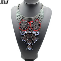 New Owl Necklace 3 Colors 2015 New Design Wholesale Factory Sale Fashion Necklace Metal Chain Chunky