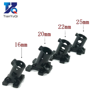 Image 1 - TianYuQi Multi axis uav parts aluminum alloy carbon tube connection  foot mount fixing parts  16mm 20mm 22mm 25mm black