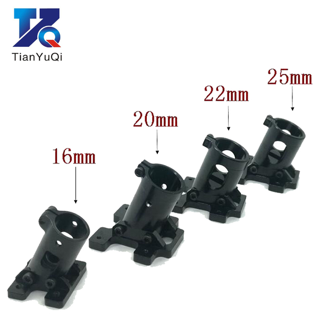TianYuQi Multi axis uav parts aluminum alloy carbon tube connection  foot mount fixing parts  16mm 20mm 22mm 25mm black