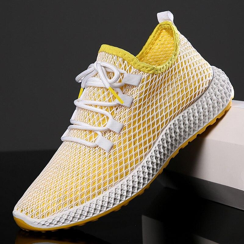 PUIMENTIUA Sneakers Shoe Flats Outdoor-Shoes Mesh Masculino Casual Fashion Mens Light