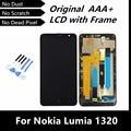 100% Probó Bueno LCD de Reemplazo para Nokia Lumia 1320 LCD Display Con Pantalla Táctil Digitalizador Asamblea con Marco + Free herramientas