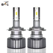 FUXUAN 2Pcs Mini H1 Led H7 with Lumileds LED 50W/set Lampada H4 Bulb HB3 9005 Connector 9006 hb4 H8 H11 headlights 12V 24V